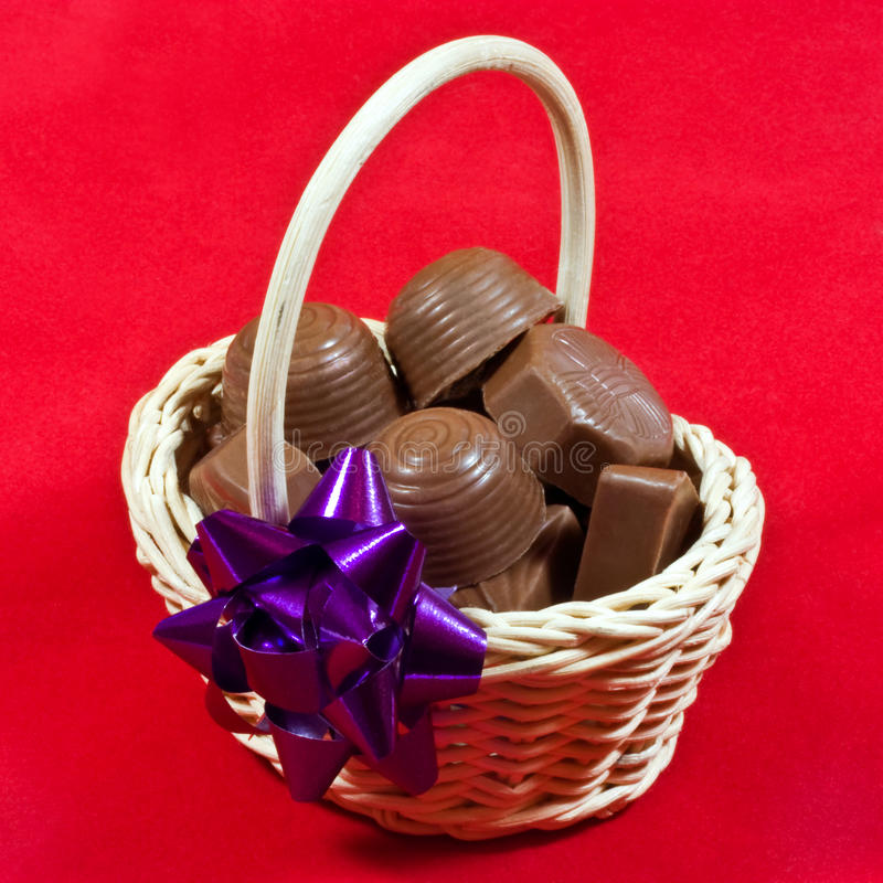 Free Chocolates In Basket Stock Image - 21950651
