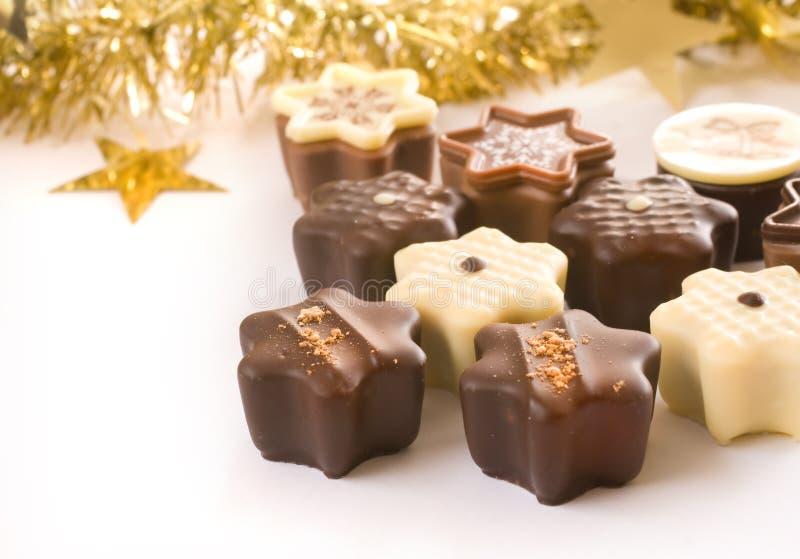 Chocolates lindos de la Navidad fotografía de archivo libre de regalías