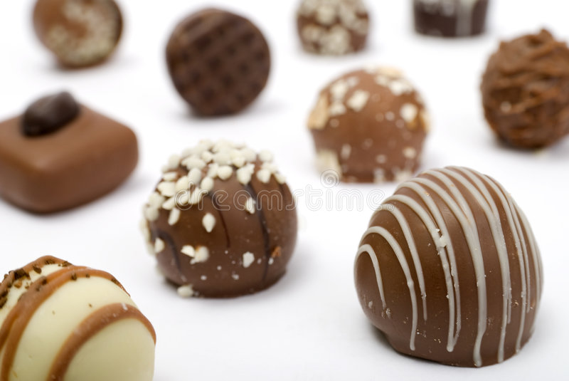 Chocolates luxuosos imagem de stock royalty free
