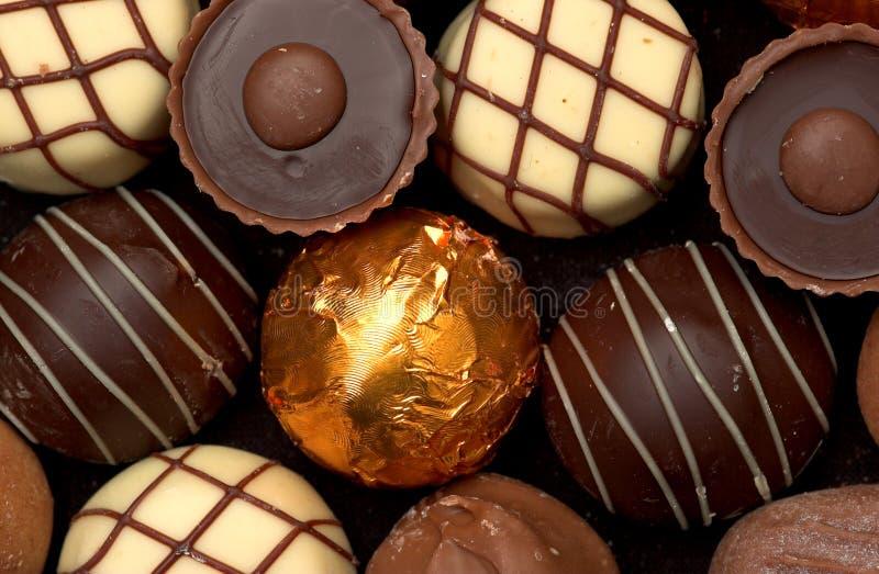 Chocolates mezclados fotos de archivo