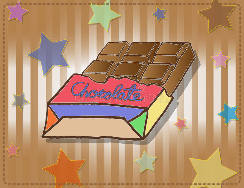 Chocolates na caixa colorida fotografia de stock royalty free