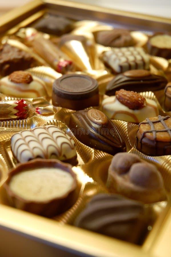 chocolats de cadre images stock