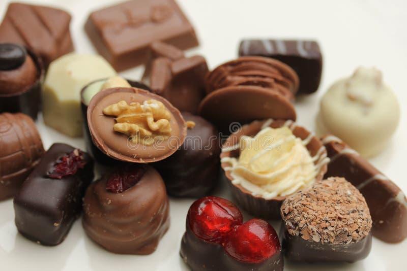 Chocolats de luxe de la Belgique photographie stock libre de droits