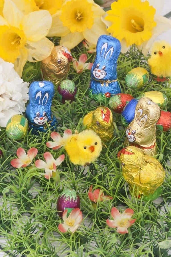 Chocolats de Pâques photo stock