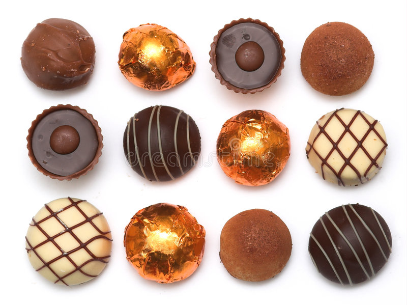 Chocolats mélangés photo libre de droits