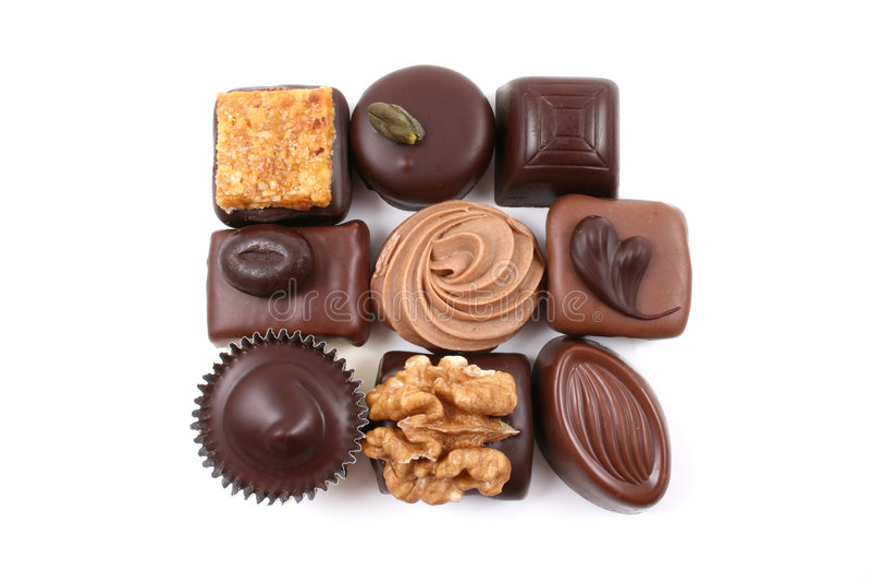 Chocolats mélangés image libre de droits