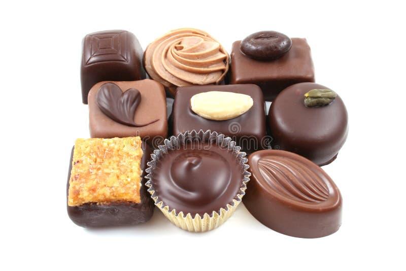 Chocolats mélangés photos stock