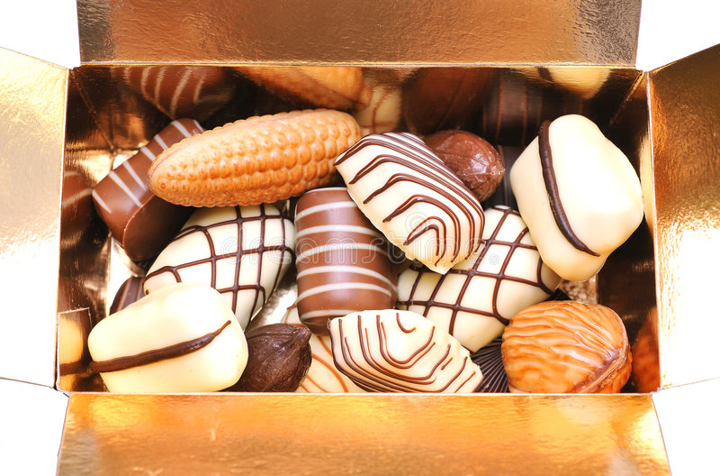 Chocolats mélangés photos libres de droits