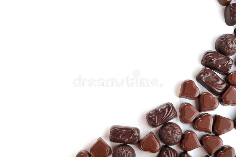 Chocolats savoureux images stock