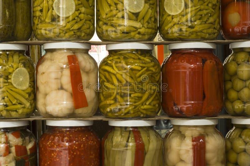 Chocs de conserves au vinaigre photographie stock