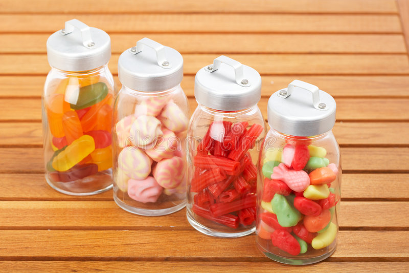 Chocs en verre de sucreries photos libres de droits