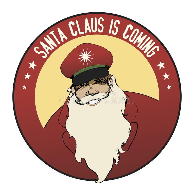 chodź Santa claus royalty ilustracja