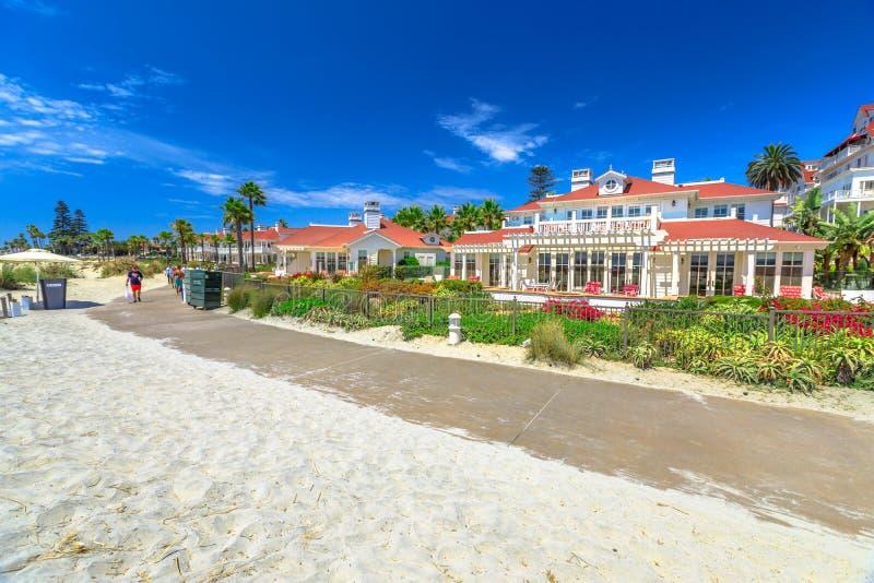 Chodniczek Hotel Del Coronado zdjęcie stock