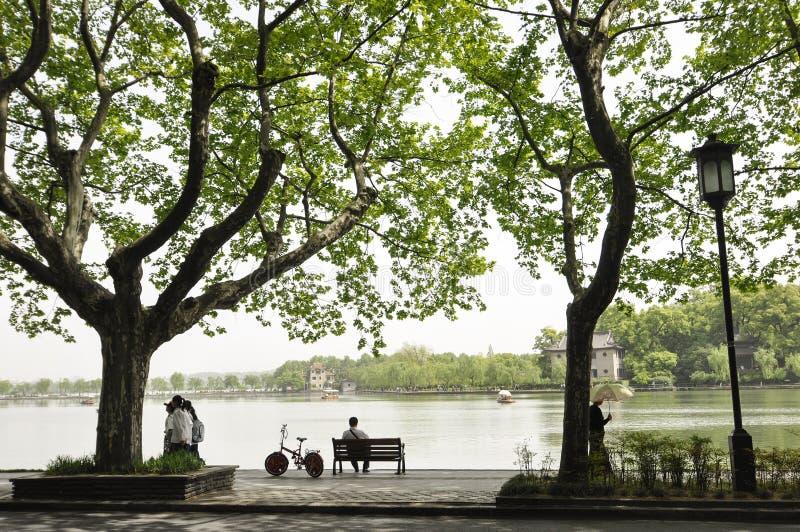 Chodniczek wzdłuż jeziora zdjęcia royalty free
