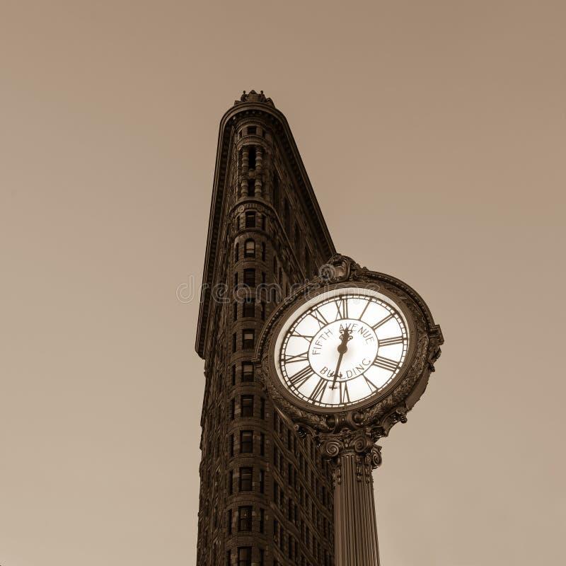 Chodniczka zegar przy fifth avenue obrazy royalty free