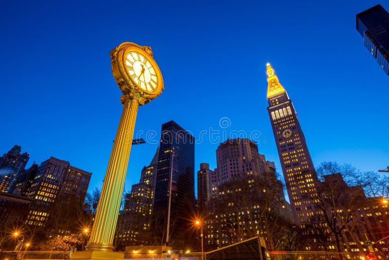 Chodniczka zegar przy 200 fifth avenue obrazy royalty free