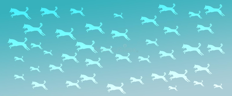 Chodnikowa t?a zwierz?cia domowego ps?w wz?r na Turkusowym Gradientowym tle royalty ilustracja
