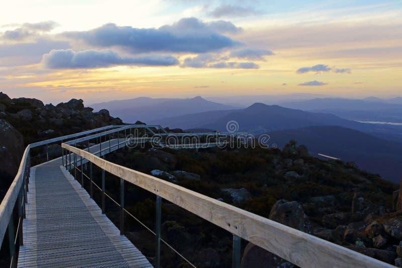 Chodząca ścieżka przy Kunyanyi, góra Wellington, Tasmania, Australia zdjęcia royalty free