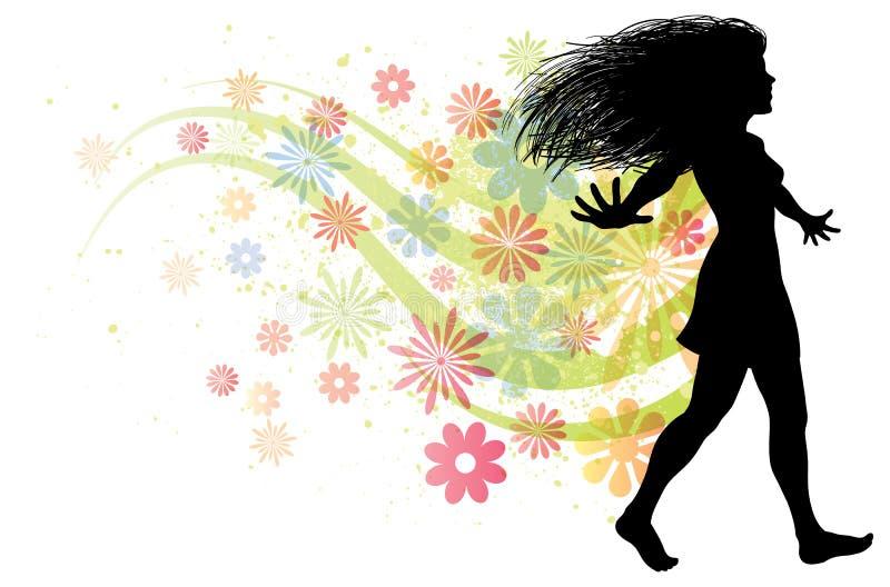 chodząca kobieta ilustracja wektor