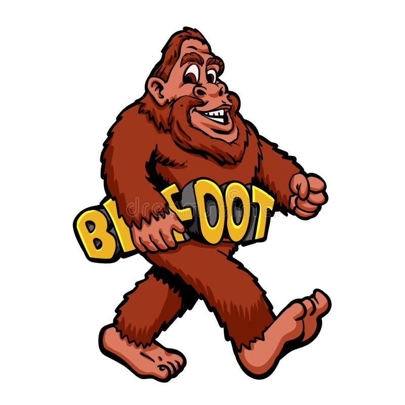 Chodzący Bigfoot uroczego royalty ilustracja