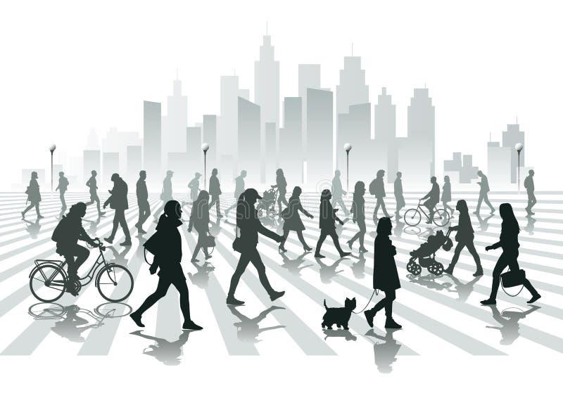 Chodzący ludzie royalty ilustracja