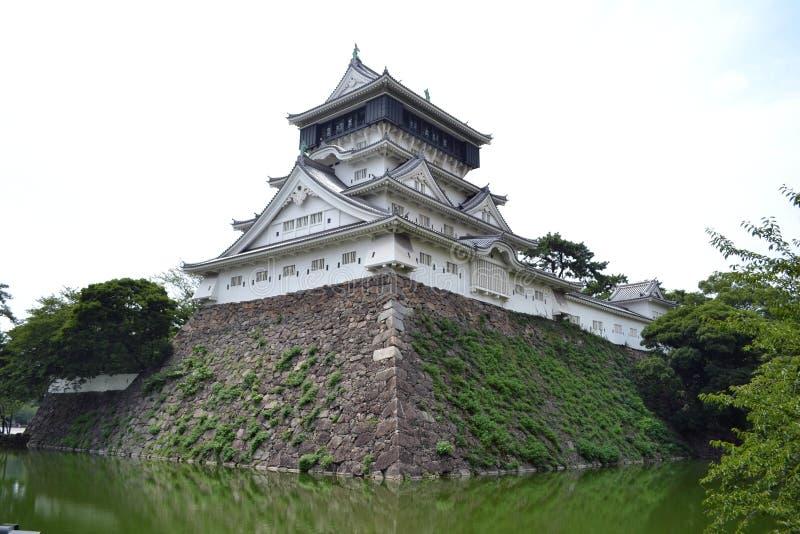 Chodzić bliżej do Fukuoka kasztelu Ja ` s zupełnie mały porównujący o zdjęcie royalty free