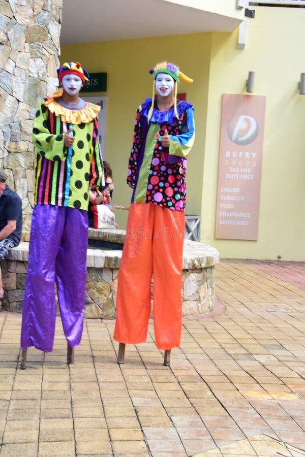Chodzić na Stilts w Costa majowiu Meksyk zdjęcie royalty free