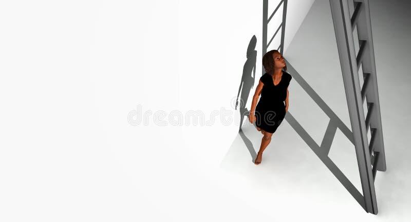 Chodzić pod drabiną ilustracji