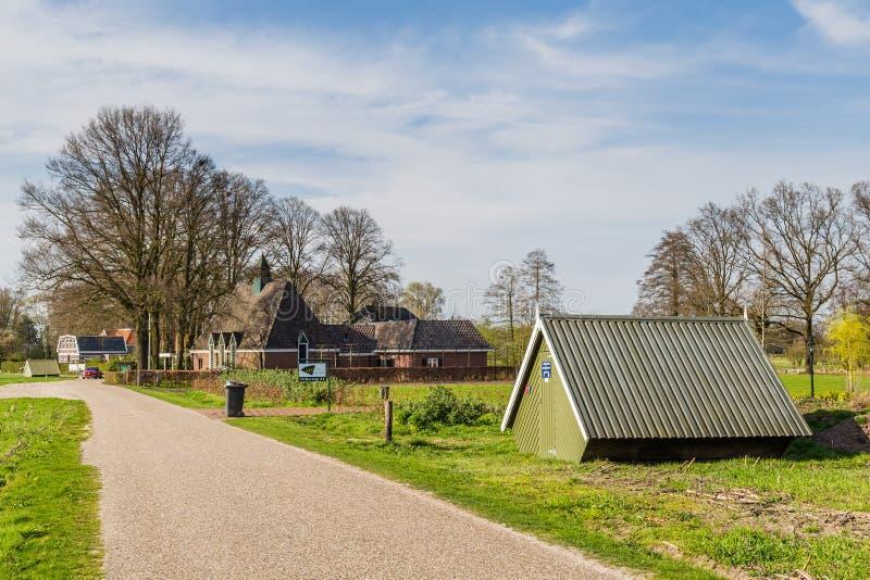 Chodzić przez Overijssel w holandiach obrazy stock