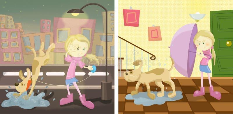 Chodzić psa royalty ilustracja