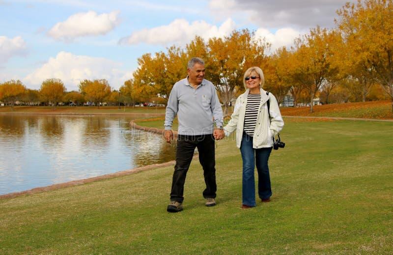 Chodzić Wpólnie w miłości i naturze fotografia royalty free