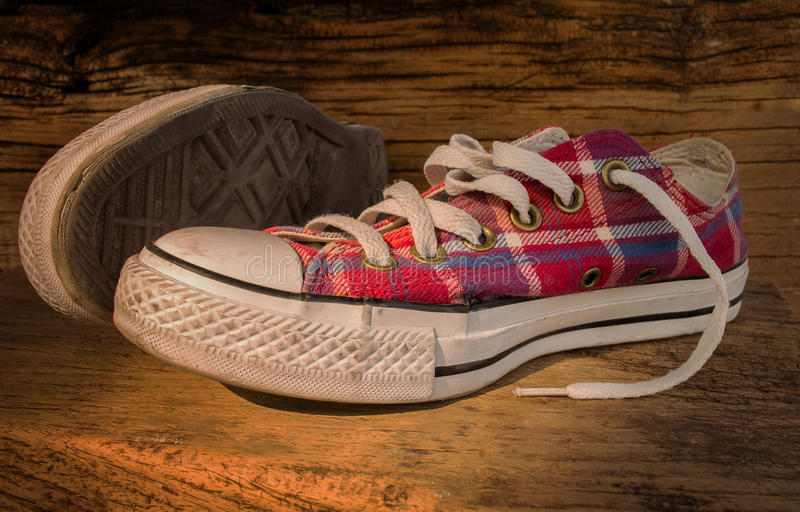 Choes sneakers fotografia stock