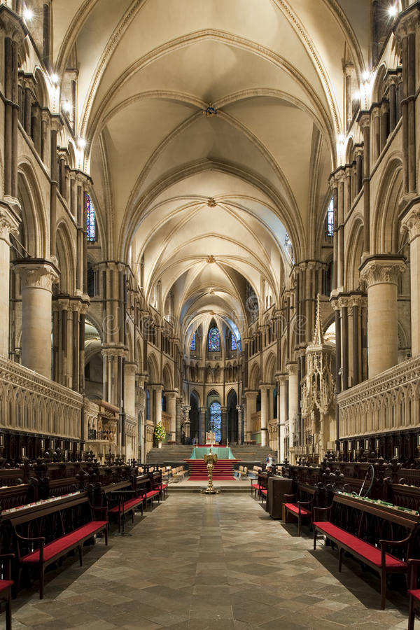 Choeur de beau Cantorbéry gothique Cathedrall image libre de droits