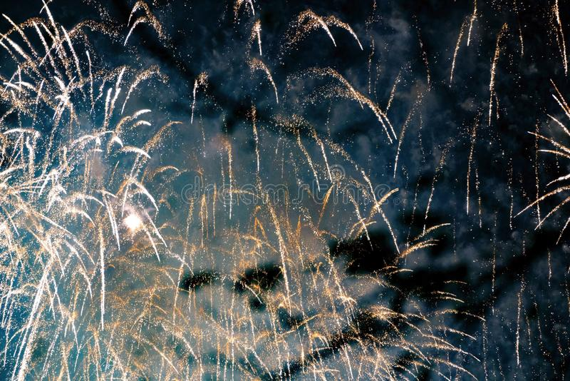Chofu Autumn Fireworks Festival 2018 stock afbeeldingen