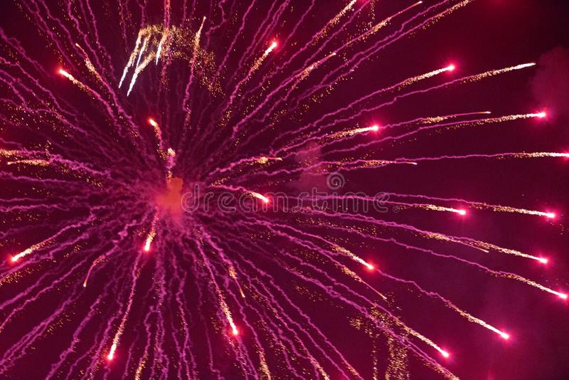 Chofu Autumn Fireworks Festival 2018 photo stock