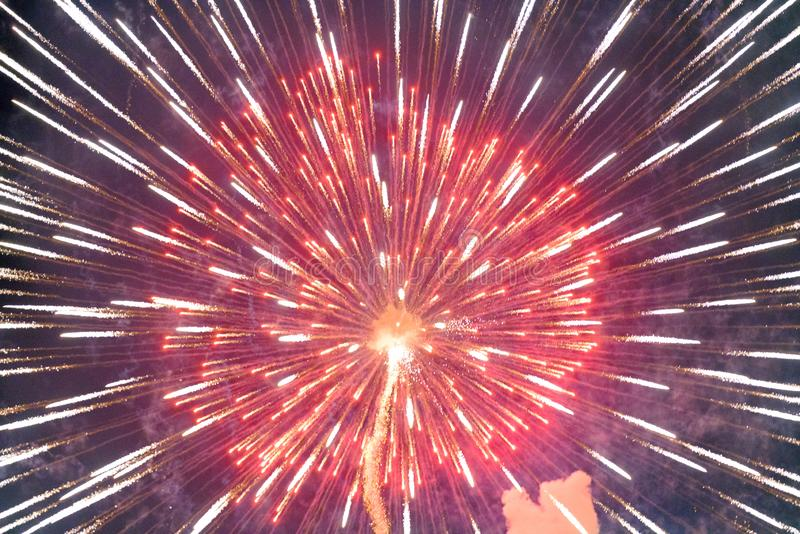 Chofu Autumn Fireworks Festival 2018 photo libre de droits
