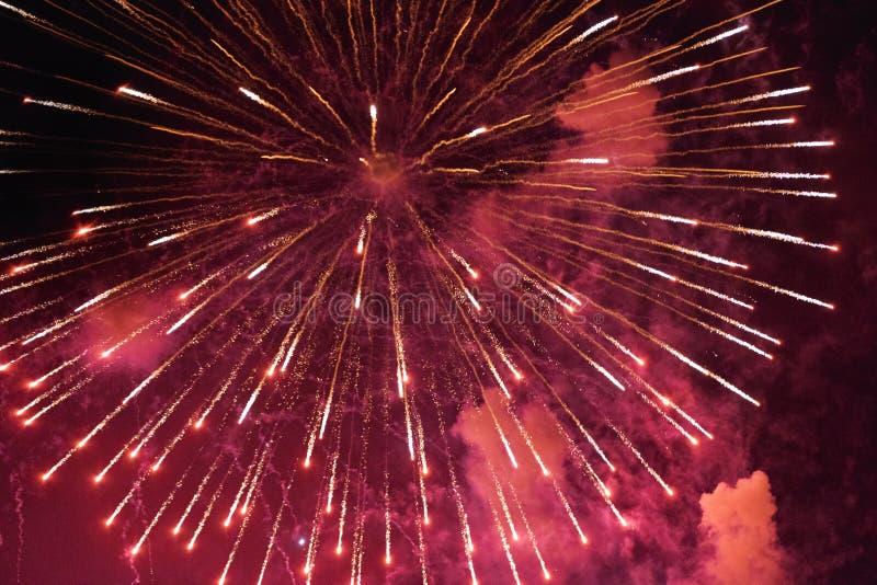 Chofu Autumn Fireworks Festival 2018 royalty-vrije stock fotografie