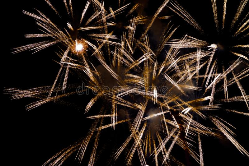 Chofu Autumn Fireworks Festival 2018 royalty free stock photography