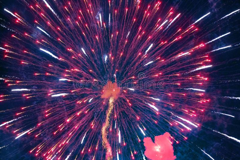 Chofu Autumn Fireworks Festival 2018. October Entertainment Fireworks Festivals Events Chofu Autumn Fireworks Festival 2018 royalty free stock image