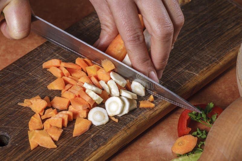 Chohhed vegetableschopped des légumes photos stock