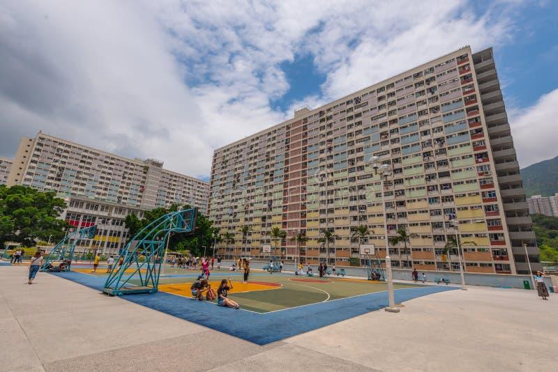 Choi Hung Estate Kowloon, Hong Kong fotografia stock libera da diritti
