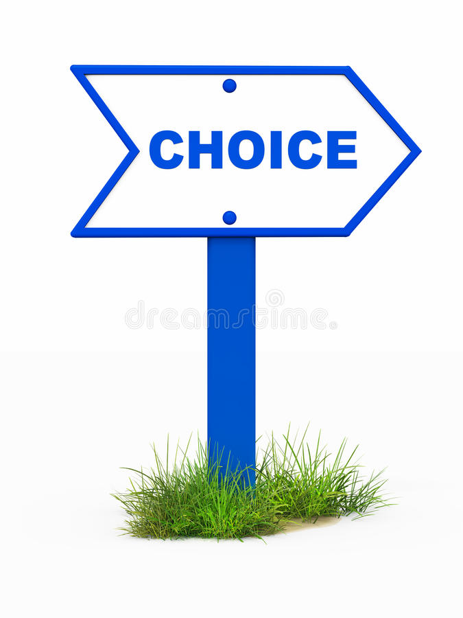 Choice stock illustration