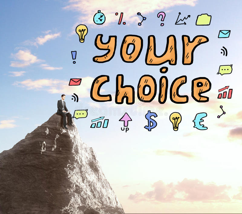 Choice concept stock images