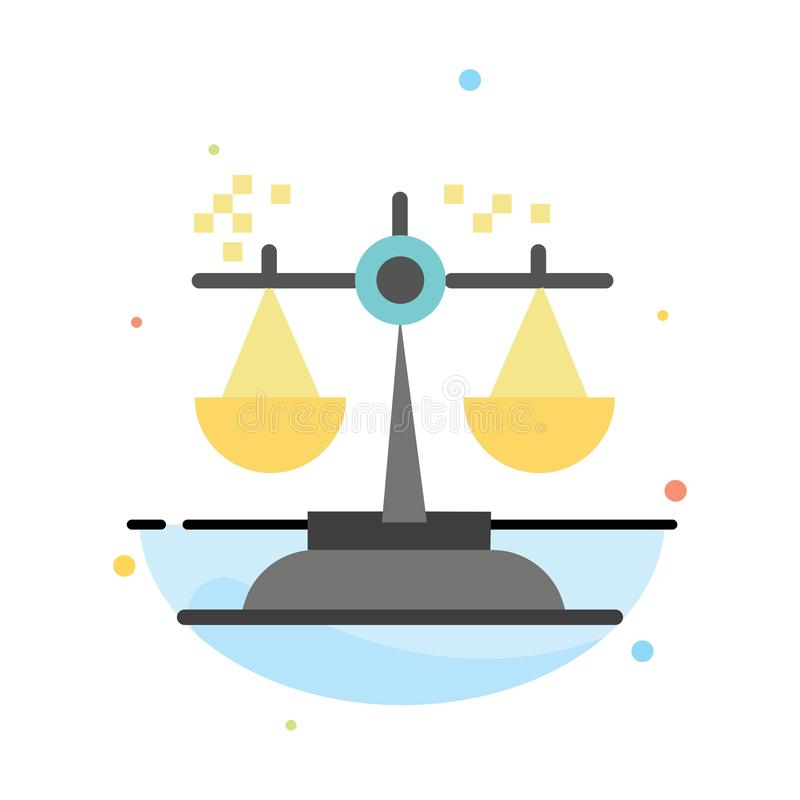 Choice, Conclusion, Court, Judgment, Law Abstract Flat Color Icon Template stock illustration