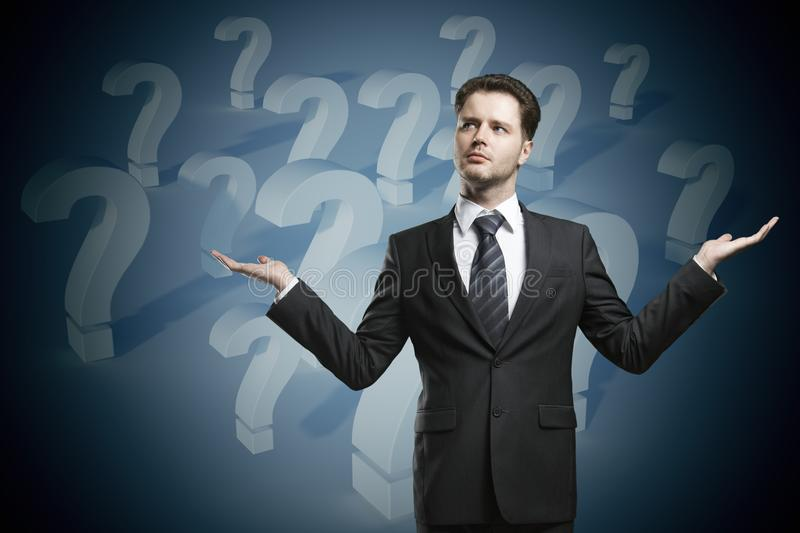 Choice and confusion concept stock image