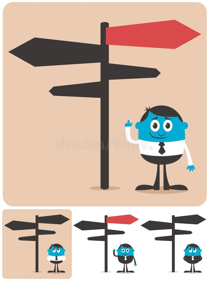 Download Choice and Direction stock vector. Image of choice, manager - 26771158