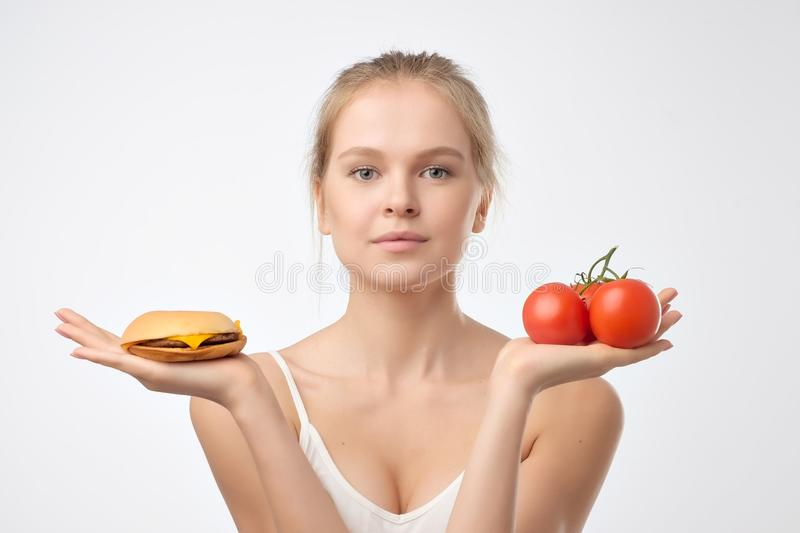 Choice eat food concept background royalty free stock image
