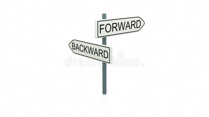 Choice between forward and backward royalty free stock image