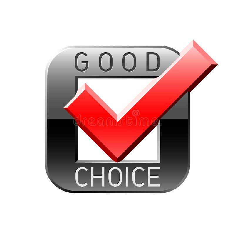 choice god tick royaltyfri illustrationer