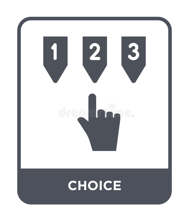 choice icon in trendy design style. choice icon isolated on white background. choice vector icon simple and modern flat symbol for stock illustration